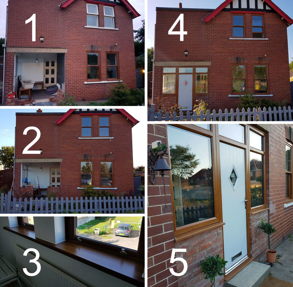 Composite Windows and Doors Install Before and After